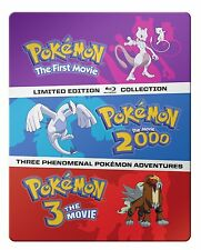 POKEMON : THE MOVIES 1 2 & 3 COLLECTION STEELBOOK-  Blu Ray - REGION A - sealed