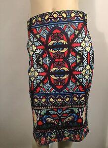 Stained Glass Rose Disney Inspired Midi Pencil Skirt