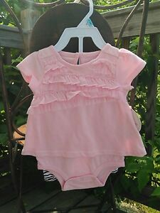 40f5fe57ee7 Koala baby NWT baby pink ruffle bodysuit zebra blk wht leggings 3-6 ...