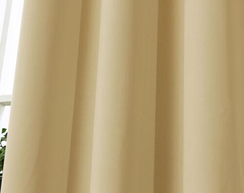 2er Gardine blickdicht Thermo Vorhang Kräuselband 135x175cm Champagne VH5882cp-2