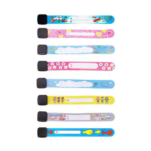 8//12pcs Emergency Bracelet Kids Child Safety Waterproof ID Name Wrist Band UK