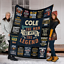 Fleece Sherpa Woven Blanket Customizable Name The Man The Myth The Legend