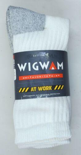 Wigwam At Work Mens Heavy Duty 86/% Cotton Crew Socks 3 Pack