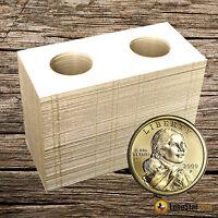 100 2x2 Small Dollar Mylar Cardboard Coin Holder Flips
