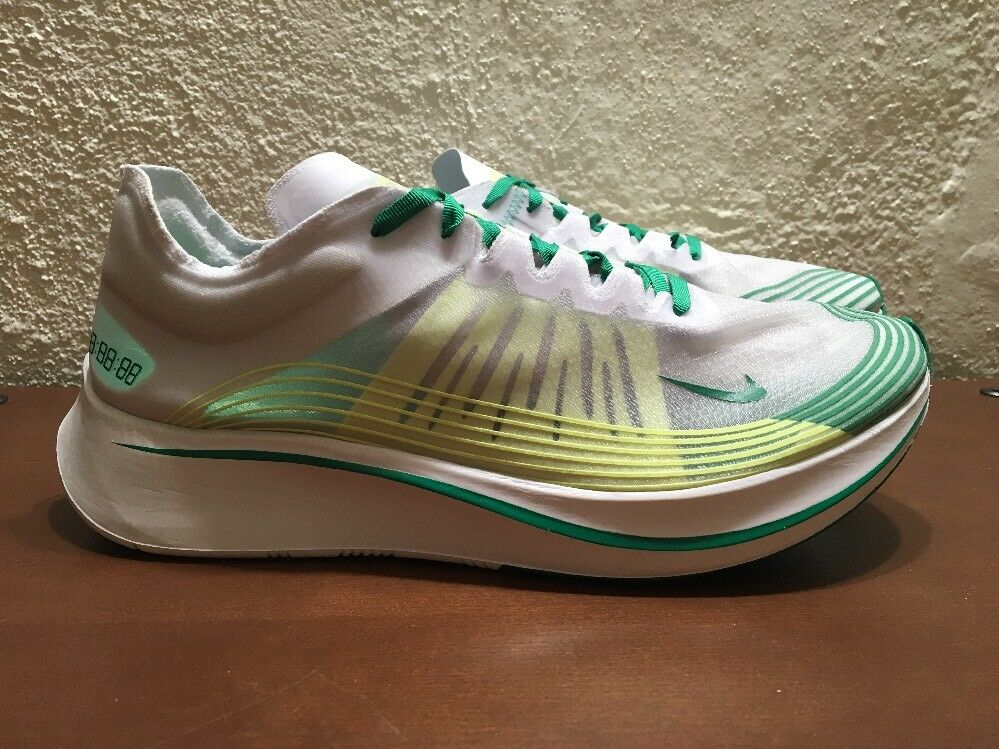 Nike Zoom Fly SP Kong Hong Kong SP AJ9282 101 blanc Lucid vert homme Taille 11 fonctionnement NEW 251567
