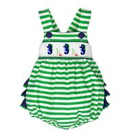 Dana Kids Seahorse Smocked Romper Baby Toddler Girls 6 Months To 3t