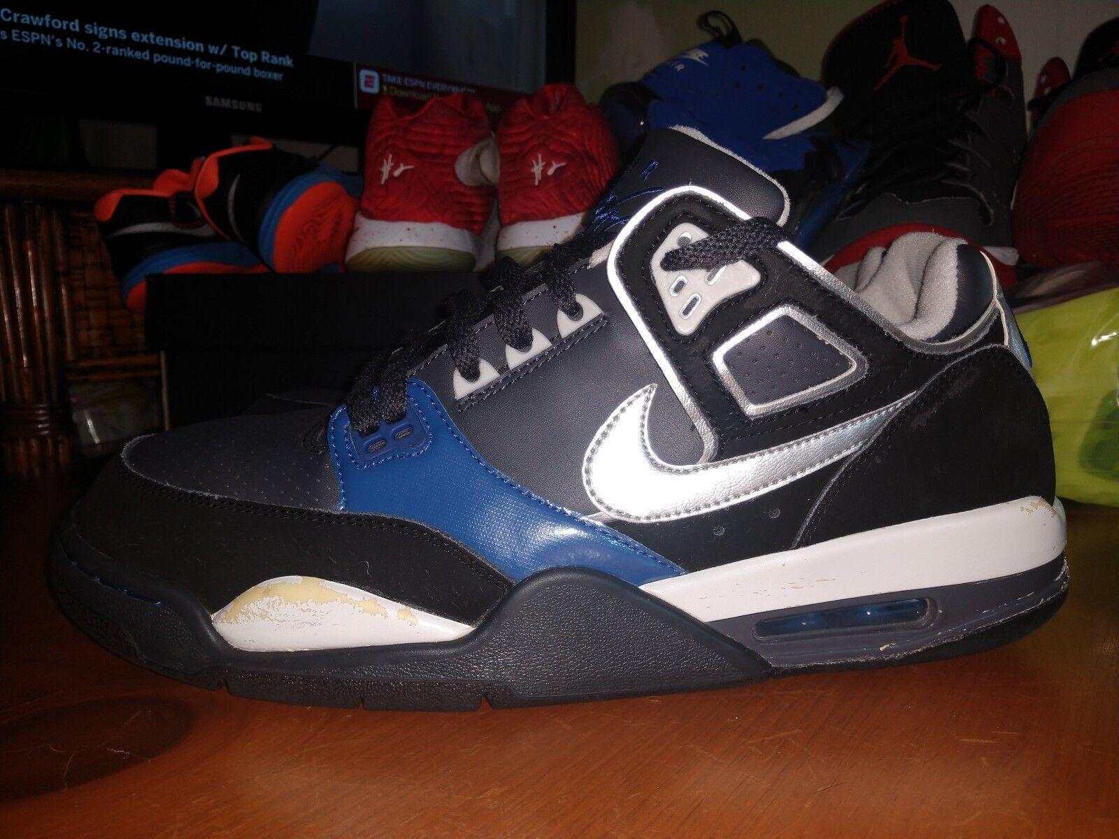 Nike air volo condor (344575-004) argentoo   nero nero nero   blu • sz 12 • • usato   | Facile Da Pulire Surface  8764a0