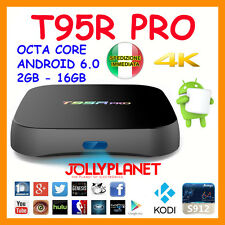 T95R PRO OCTA CORE 2GHz BOX ANDROID 6.0 16GB 2GB S912 WIFI IPTV TV 4K 60fps KODI