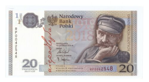 INDEPENDENCE NEW UNC FOLDER//BROCHURE POLAND 20 ZŁOTYCH  2018 100th ANNIVERSARY