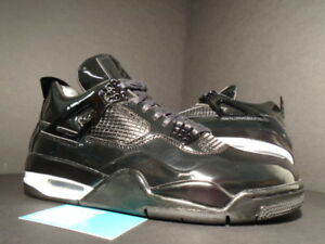 low priced a627d c46c7 Image is loading Nike-Air-Jordan-IV-4-Retro-11LAB4-BLACK-