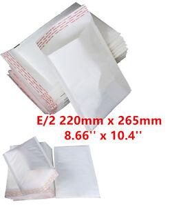 100-E-2-E2-White-Strong-Padded-Bubble-Postal-MAIL-Envelopes-LITE-220X265mm-UK