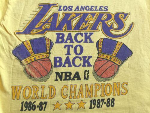 Vtg. 80'S  Lakers Back To Back World Champion 86 8