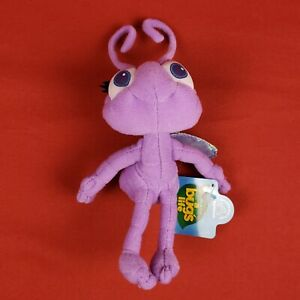"New Vintage 8"" Disney Applause Purple Dot Mini Bean Bag Plush Bugs Life"