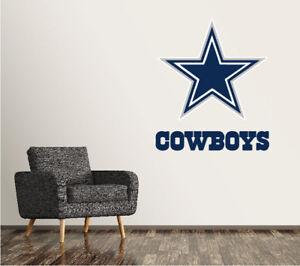 Image Is Loading Dallas Cowboys Wall Decal Logo Football Nfl Art