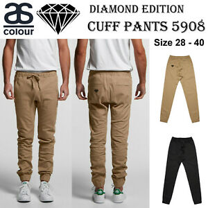 AS-Colour-ASColour-Mens-Cuff-Long-Work-Casual-Chino-Pockets-Trousers-Pants-5908