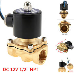 1-2-034-NPT-12V-DC-Electric-Solenoid-Valve-Water-Air-Gas-Control-Valve-Brass-NPT