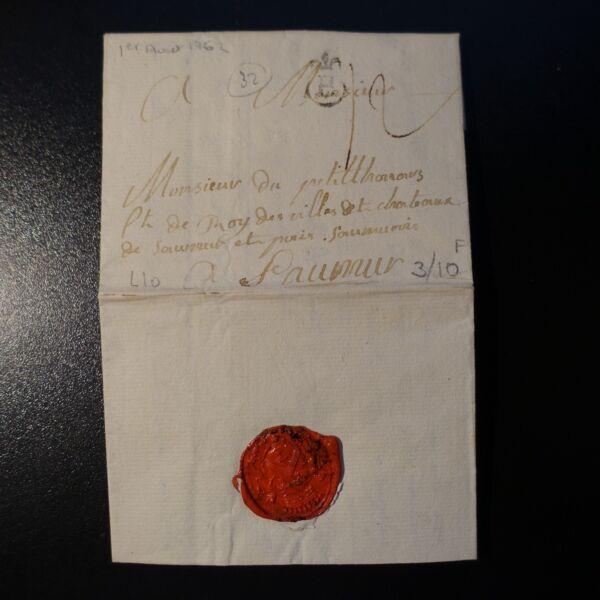 Italien Vom BrÜcke Beauvoisin Sallanches 1832 Brief Cover Marke Post