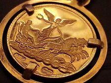 ))) RARE 18K GOLD  GIAMPAOLI COIN  PENDANT (((