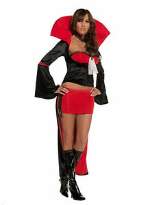 742bf66bf5 NWT Sexy Coffin Queen Vampire Costume Lingerie 4PC Top Skirt Jacket ...