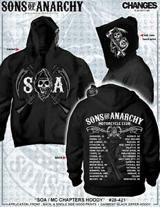 New Sons Of Anarchy Soa Chapters Cities Samcro Logo Reaper Biker