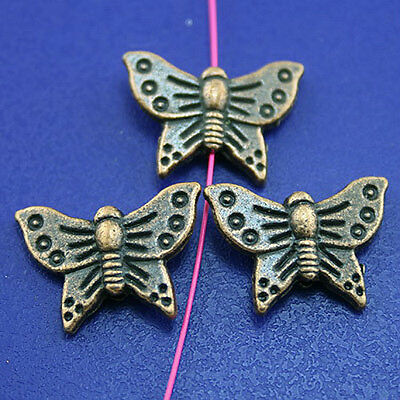20pcs antiqued copper-tone butterfly spacer beads H2247