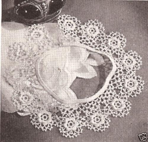 Vintage Antique Irish Rose Crochet Motif Collar Pattern Ebay