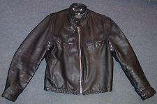 Vintage Fidelity Black Leather Motorcycle Jacket Cafe Racer Size 40