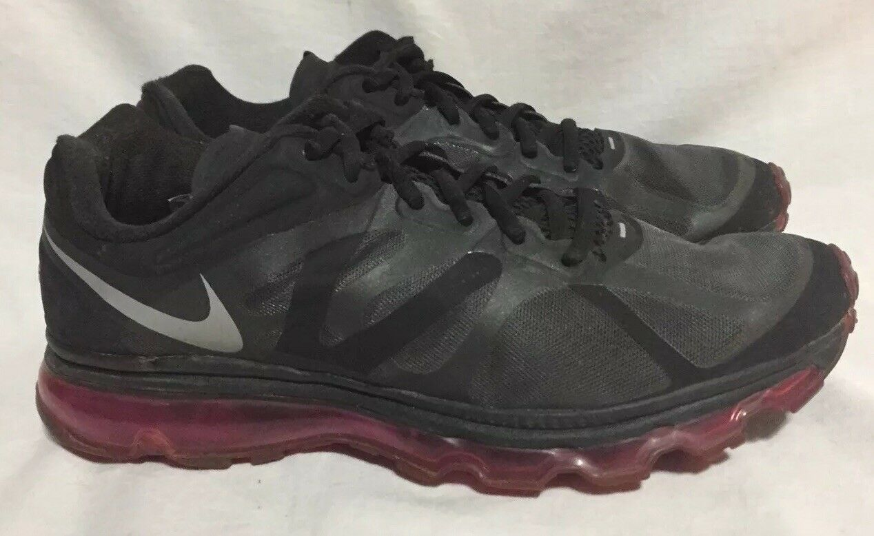 811aba0e20c Nike Air Max + Running Running Running Shoes Trainers Black 487679-006  3N-12 Men s 10 17f730