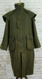 P-G-FIELD-Olive-Wax-Stockman-Riding-Coat-size-SMALL
