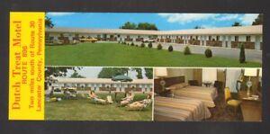 Undated-Unused-Oversized-Postcard-Dutch-Treat-Motel-Ronks-Pennsylvania-PA