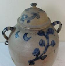 Rare 12 Gal. Stoneware Watercooler w/Original Lid Applied Open Double Handles