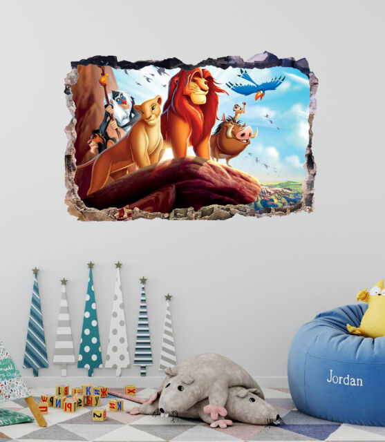 The Lion King DOOR WRAP Decal Wall Sticker Mural Personalized NAME Disney D110