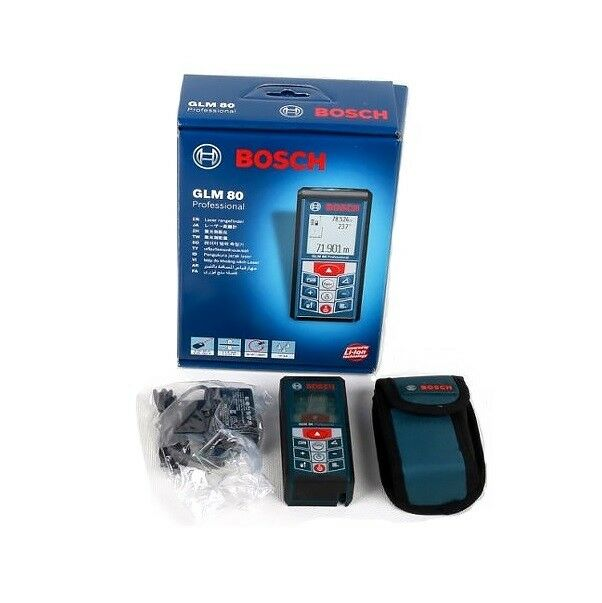 BOSCH GLM80 Laser Distance 80MTR Angle Measurer Meter Expedited Shipping