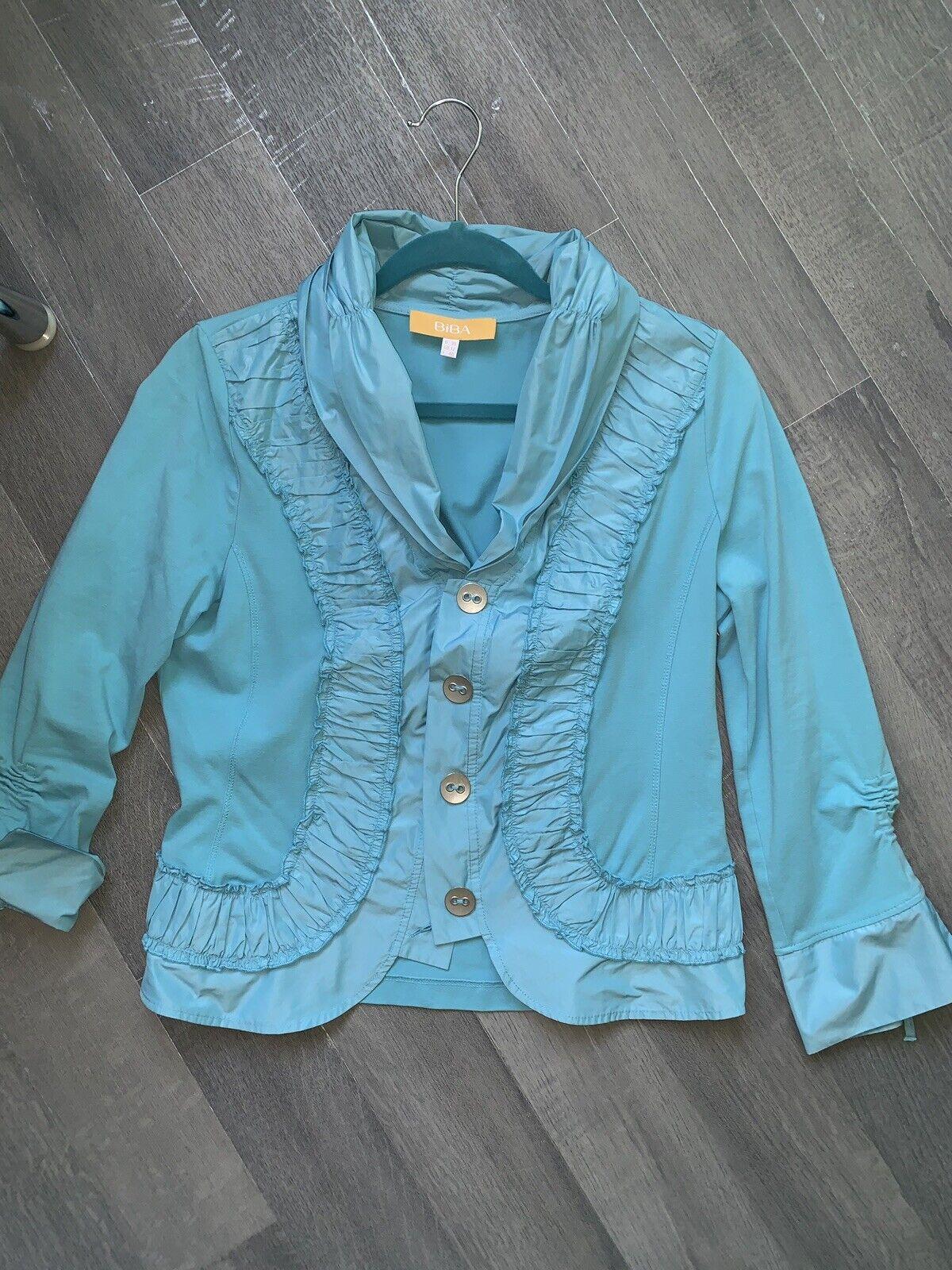 BiBA Jacke  In Blau 38 von Biba 92% Baumwolle Aktuell