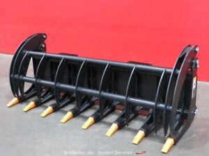 "Greatbear 78"" Heavy Grass Fork Grapple Skid Steer Attachment bidadoo -New"
