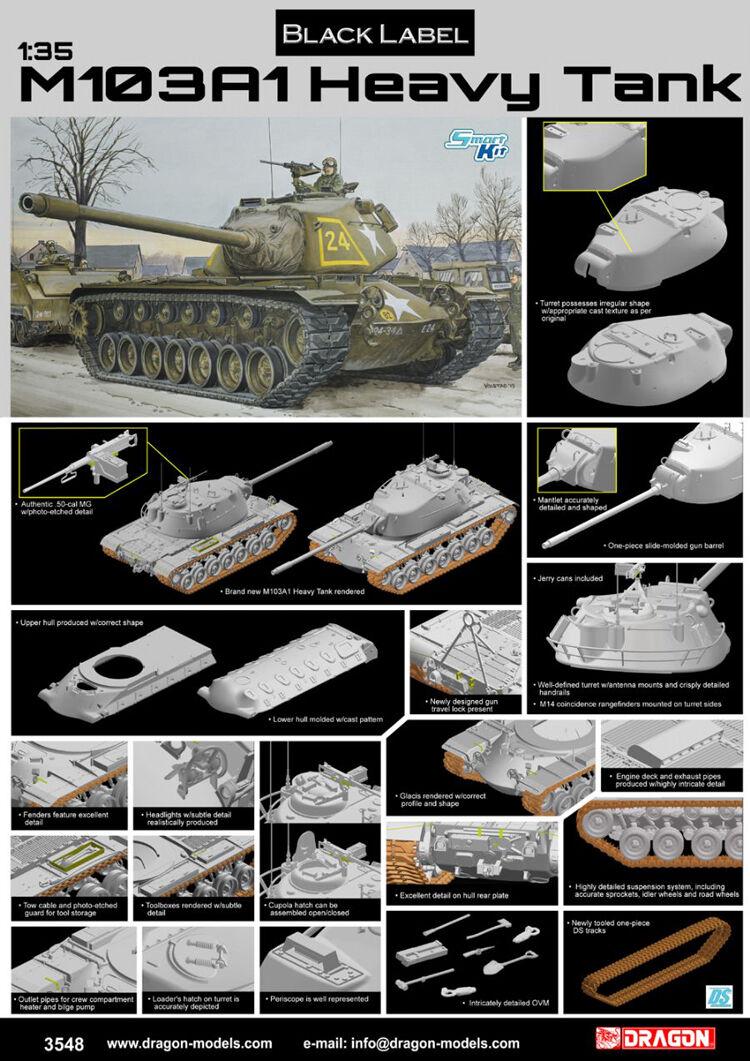Dragon 1 35 3548 M103A1 Heavy Tank