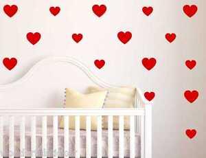 Hearts-Love-vinyl-wall-art-sticker-room-decor-decals-home-decor