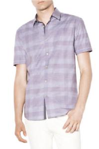 John Varvatos Star USA Plaid Slim Fit Button-Down Shirt, Size L, MSRP