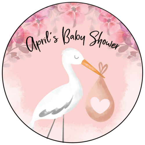 Baby Shower Personalised Favour Stickers,sweet cones,cello,party bags loot boxes