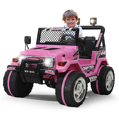 Kids Ride On Car Jeep 12V Electric Power Wheels Remote Control MP3 LED  Light Toy   eBay