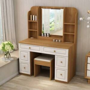 Wooden Table Chair Set With Mirror