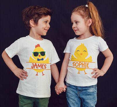 Pasqua Kids T Shirt Pasqua Boy Girl Chick Personalizzato Bambini FUNNY Tees