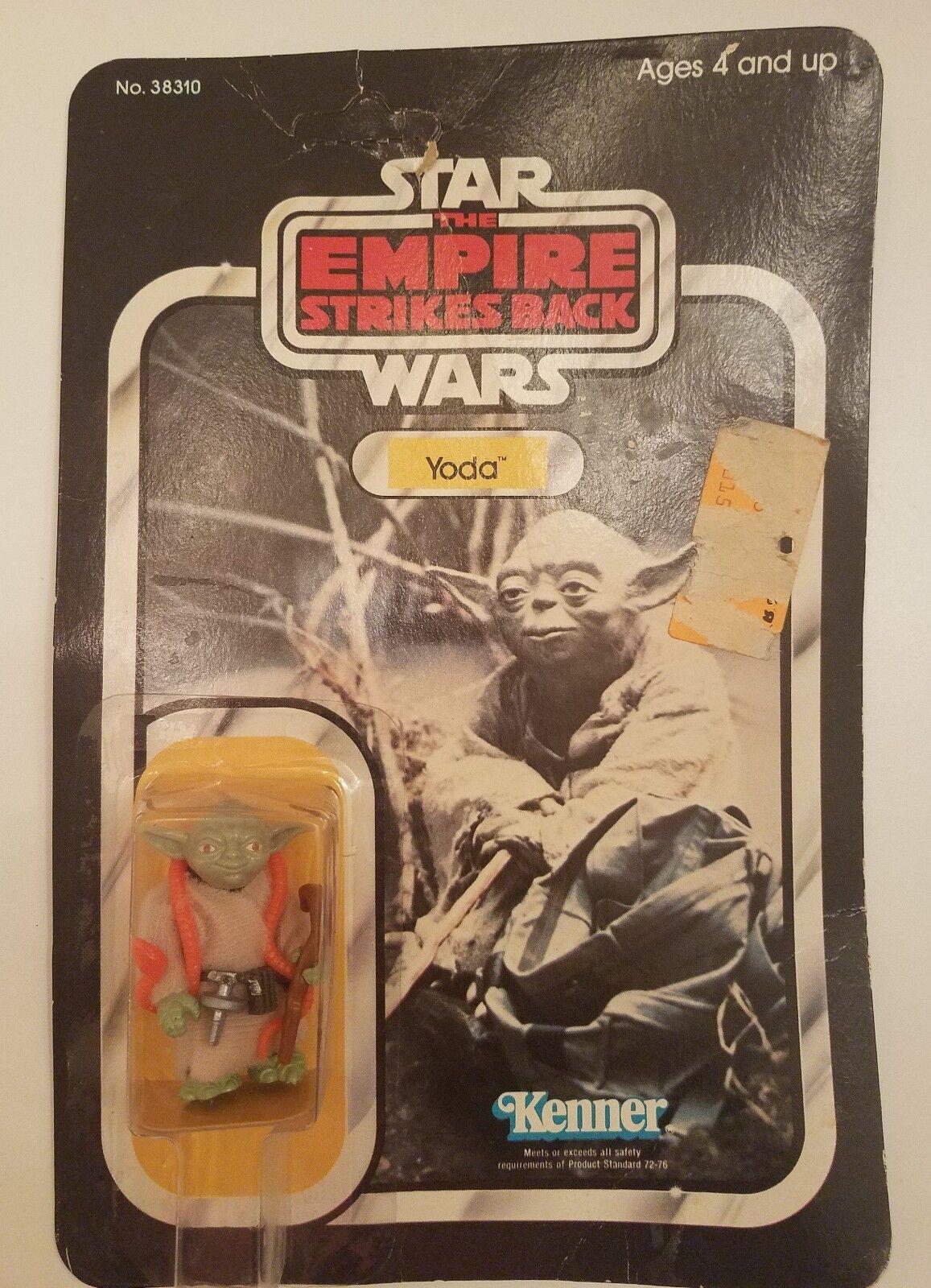 Vintage Kenner Star Wars no 38310 Yoda Figurine Orange Serpent Nouveau Lucas
