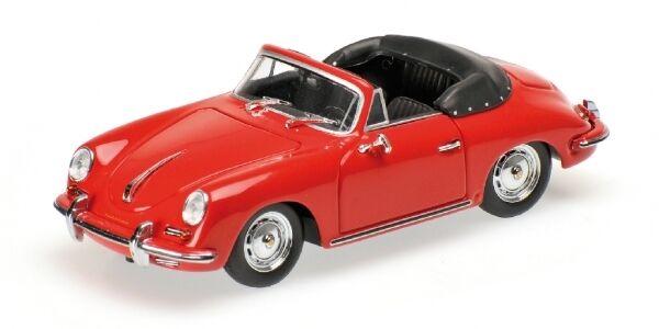PORSCHE 356 B CABRIOLET CABRIOLET CABRIOLET 1960 rosso 1 43 MODEL MINICHAMPS 604114