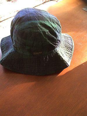 ^ NEW RALPH LAUREN POLO  BUCKET/GOLF/RAIN HAT BLACKWATCH PLAID OILCLOTH S / M