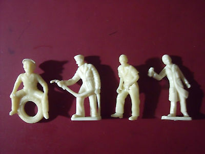 4 Figurines Garage Station Service Set 172 Vroom A Peindre 1/43