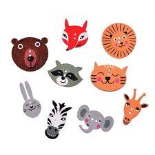50Pcs Botones de madera dibujos animados costura botón Decoración  Scrapbooking