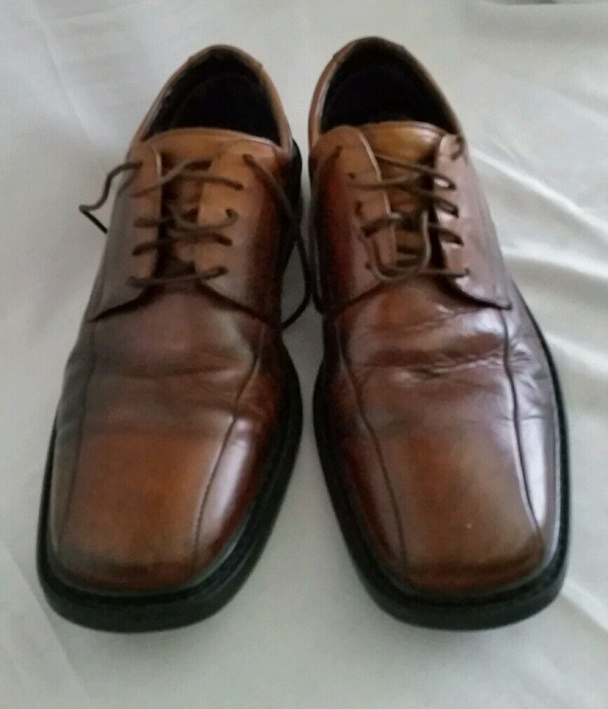 Bostonian Uomo Pelle Shoes   size 10 M  Oxford Solid Brown ITALY vgc