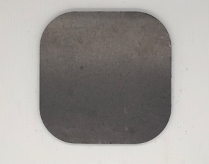 end blank plate custom 15mm mild steel metal square with radius//rounded corners
