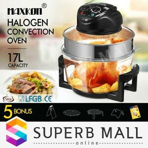 17l Convection Halogen Oven Low Oil Fat Turbo Cooker